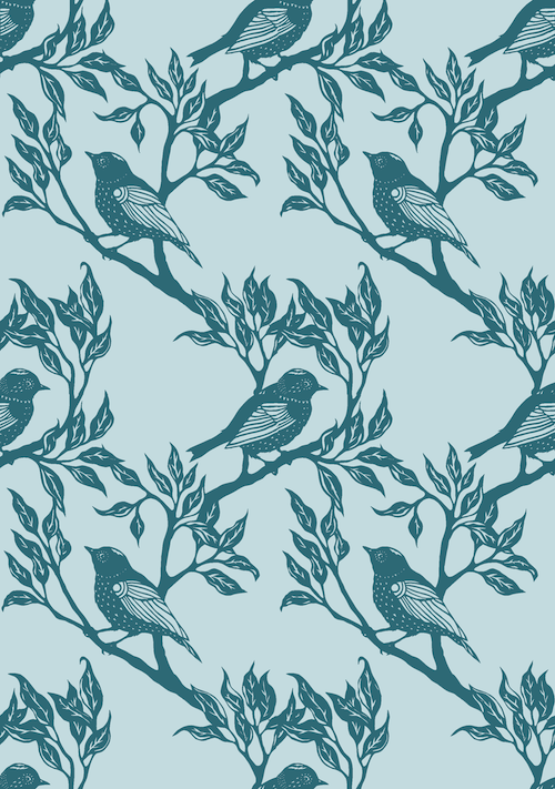 Bird Pattern teals final small