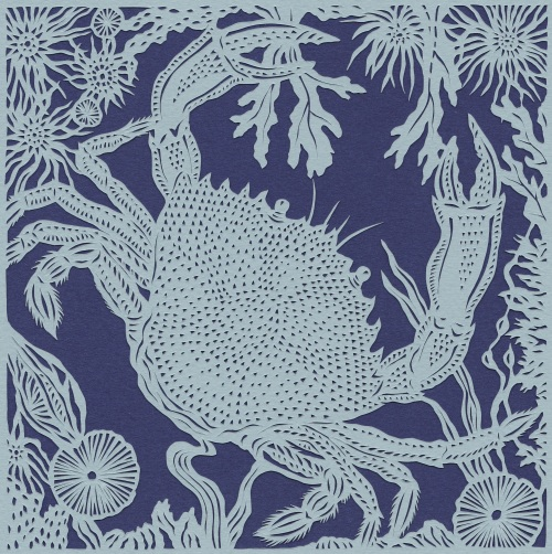 Crab papercut cropped